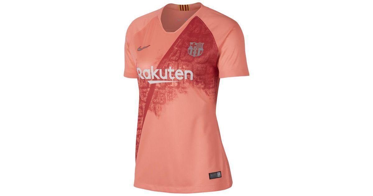 c888b6c9cb8 Nike Fc Barcelona 2018-2019 Breathe Stadium Third Kit Shirt in Pink - Lyst
