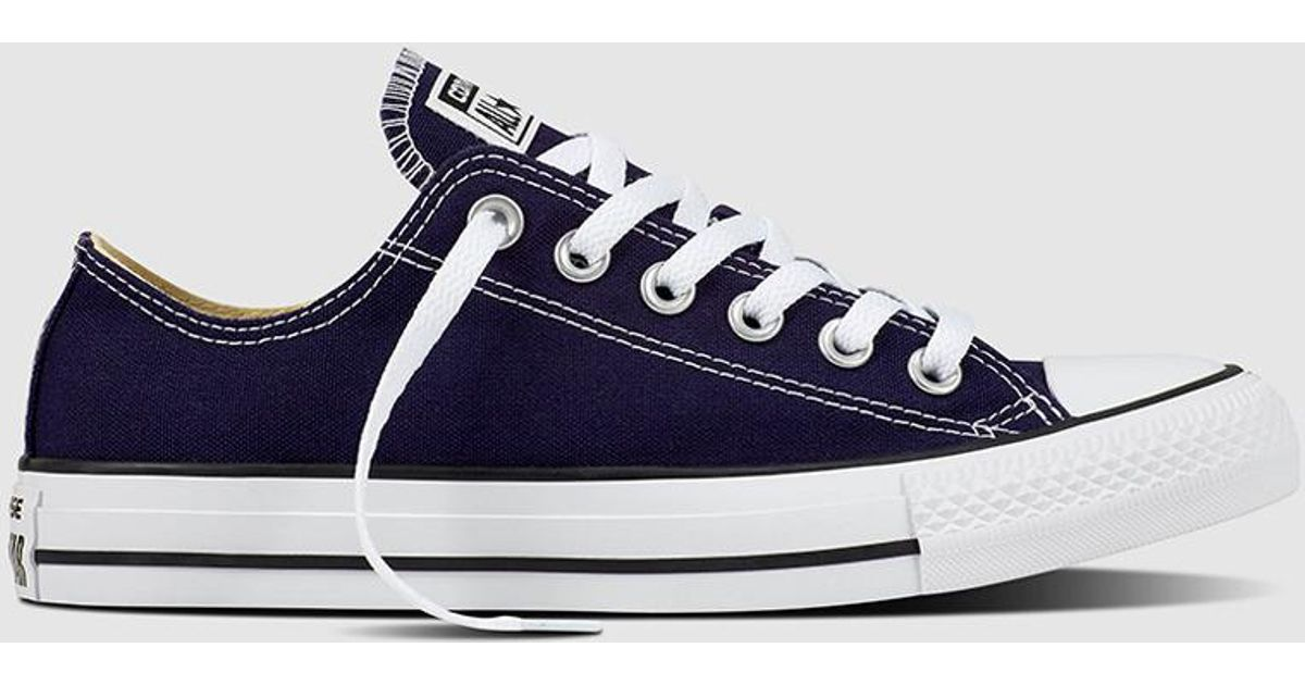 56e16a876654 Lyst - Converse All Star Chuck Taylor Navy Blue Canvas Trainers in Blue for  Men