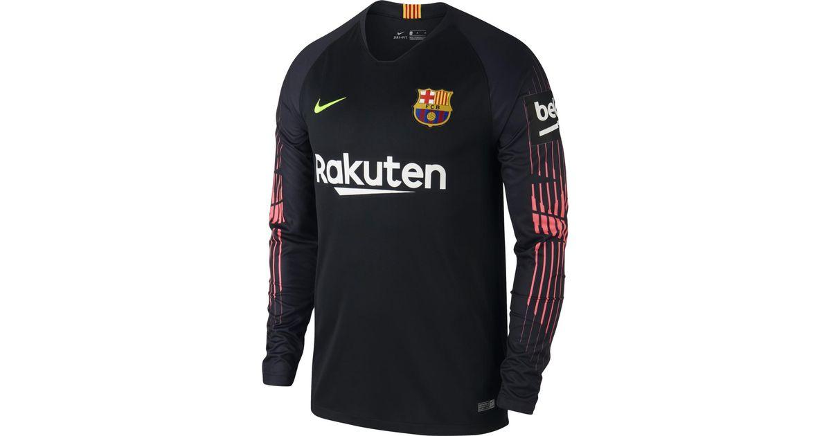 b16381f5 Nike Fc Barcelona 2018-2019 Breathe Stadium Goalkeeper T-shirt in Black for  Men - Lyst