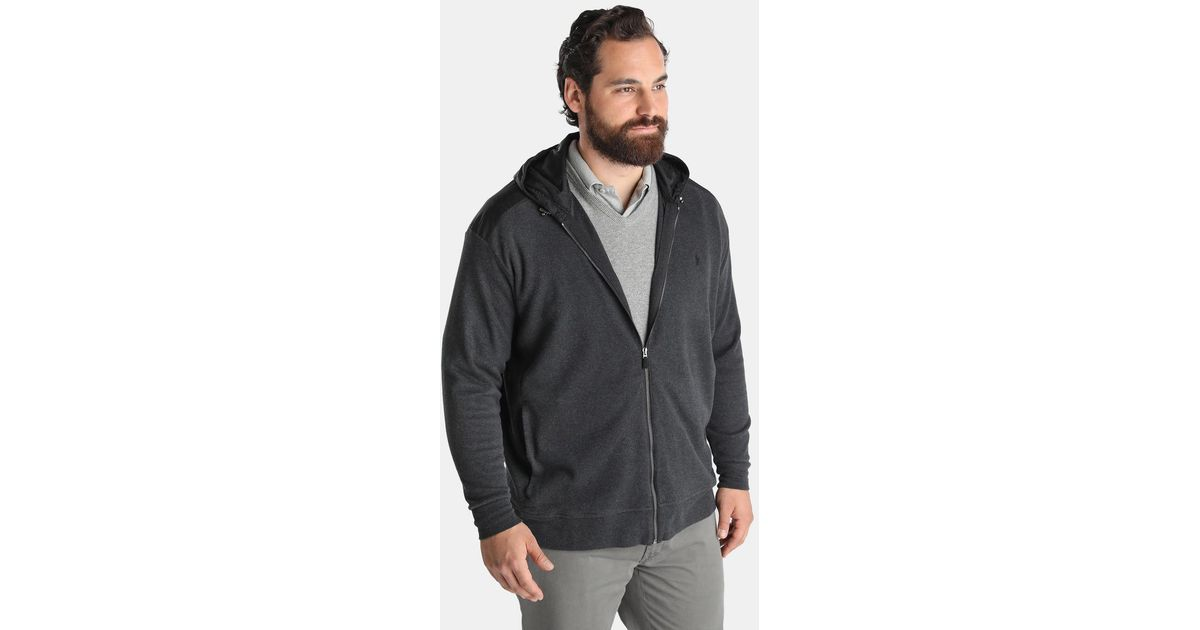 Lyst polo ralph lauren big and tall grey athletic jacket for Big and tall athletic shirts