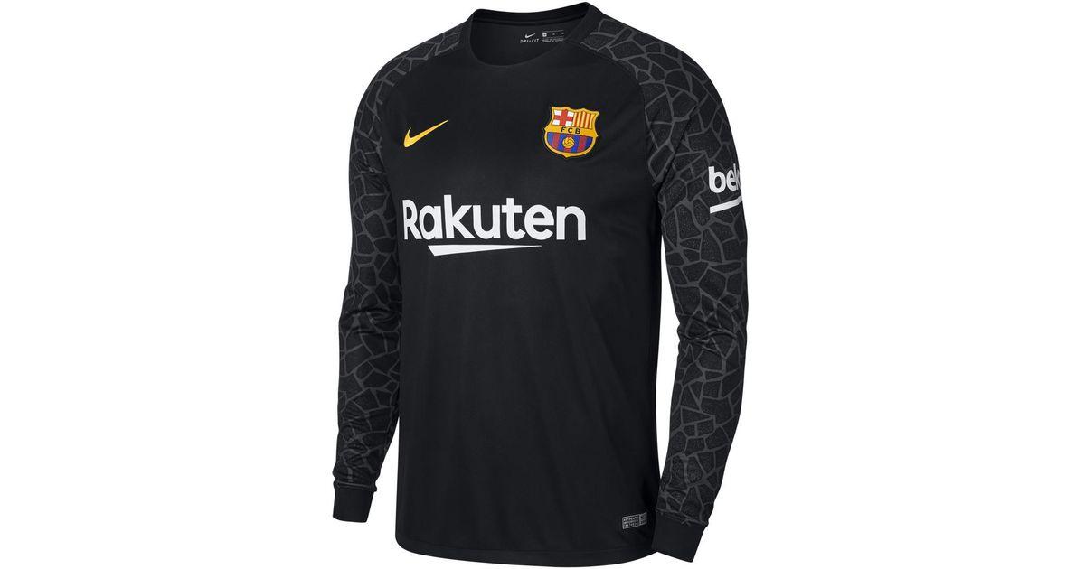 Nike Fc Barcelona 2017-2018 Breathe Stadium Goalkeeper T-shirt in Black for  Men - Lyst 944acf442