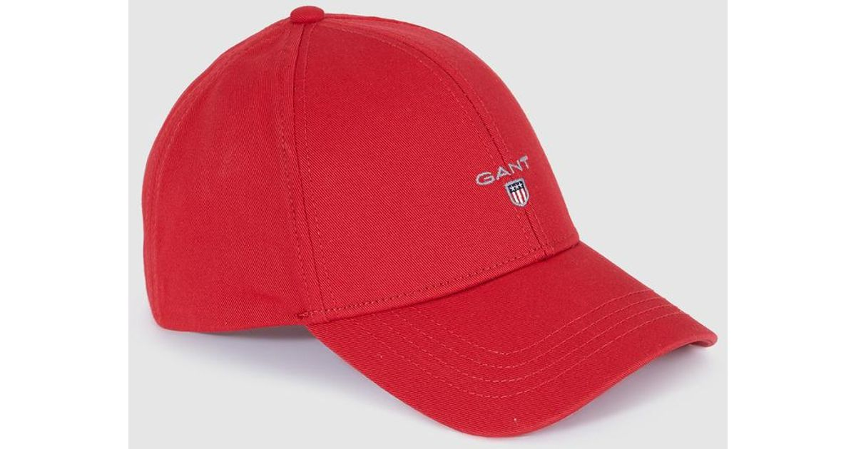 5241e36f GANT Red Cotton Cap in Red for Men - Lyst
