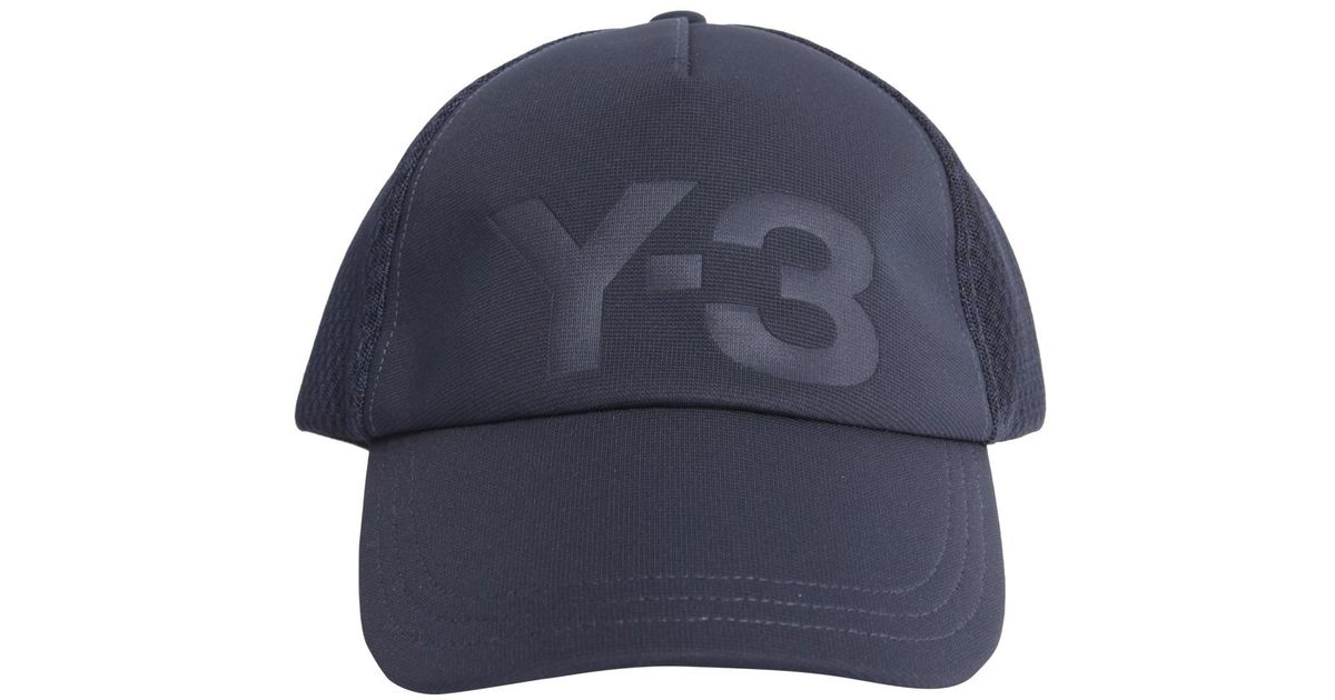 d8f5e93024192 Y-3 Trucker Twill And Mesh Baseball Cap in Blue for Men - Lyst