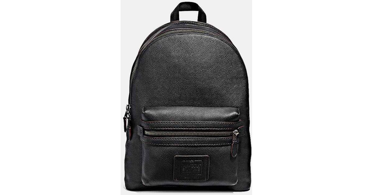 90229e0964 Lyst - COACH Academy Backpack In Pebbled Leather in Black for Men