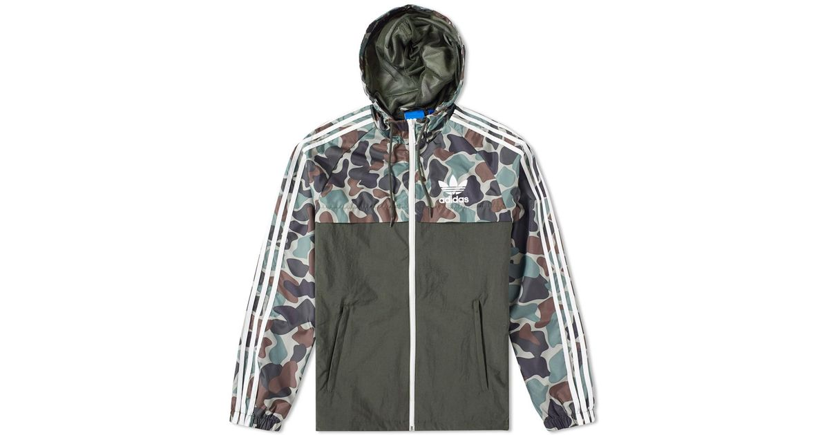 b89b527336cb03 adidas Originals Reverse Camo Windbreaker in Black for Men - Lyst