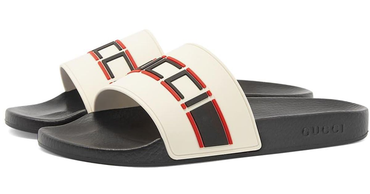 887d6b1b2 Gucci Pursuit Sport Slide in White for Men - Lyst