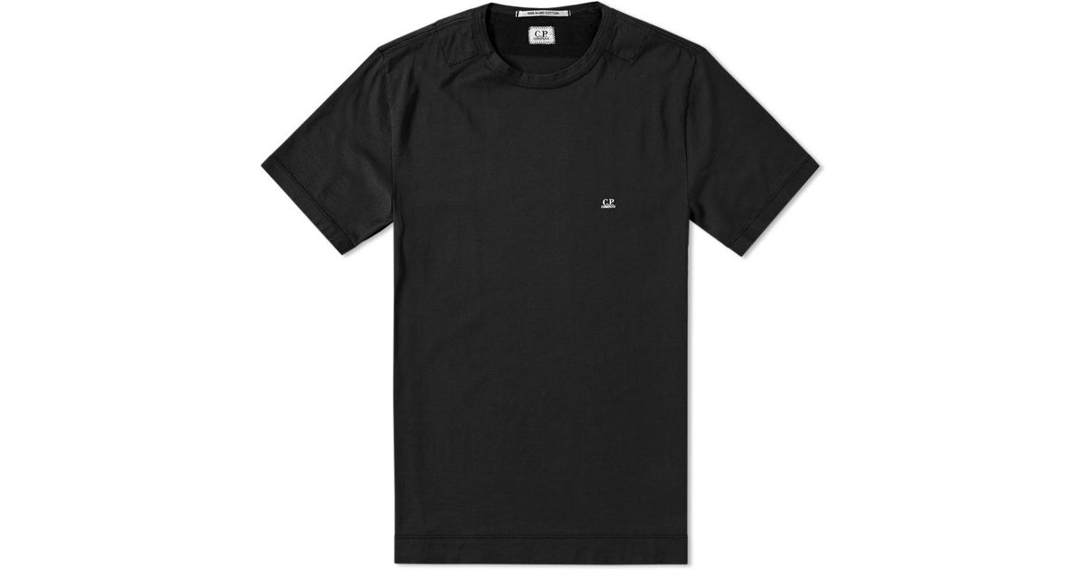 0268cecd C P Company Classic Logo Tee in Black for Men - Lyst