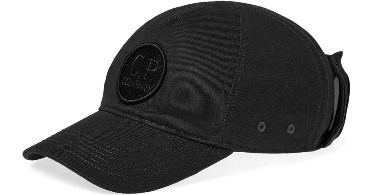 e615f0be62d Lyst - C P Company Goggle Baseball Camp Cap in Black for Men