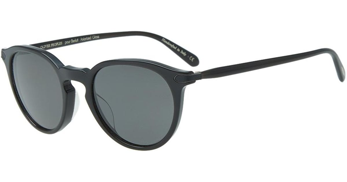 387ac5427ae5c Oliver Peoples X Berluti Rue Marbeuf Sunglasses in Black for Men - Lyst