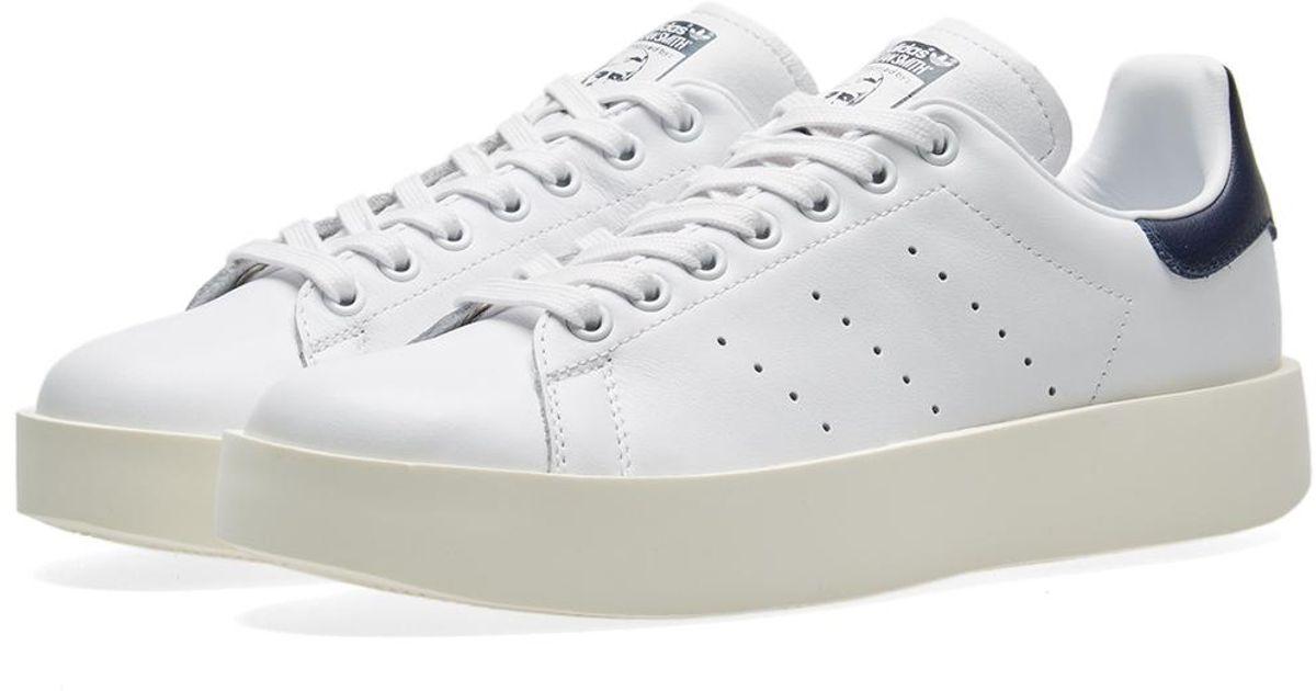 online store e2925 b0070 Adidas Originals - White Stan Smith Bold W for Men - Lyst