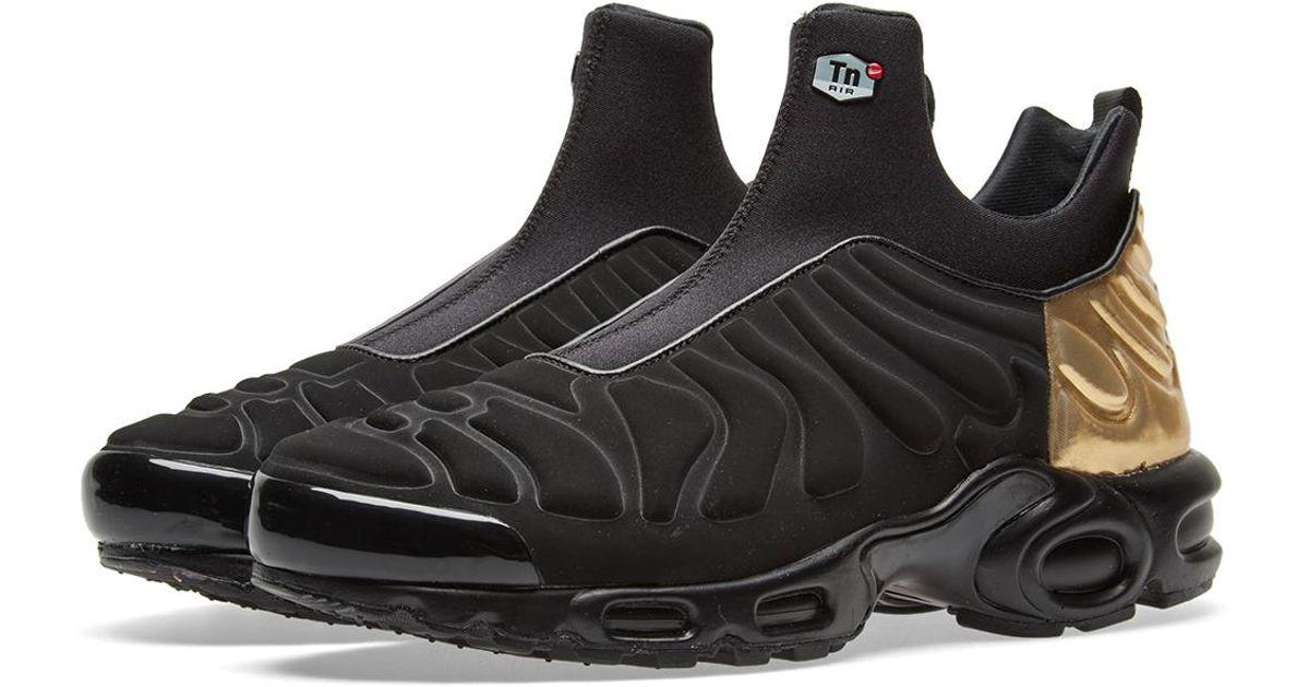 Nike Air Max Plus Slip SP TN Black Mens Running Shoes