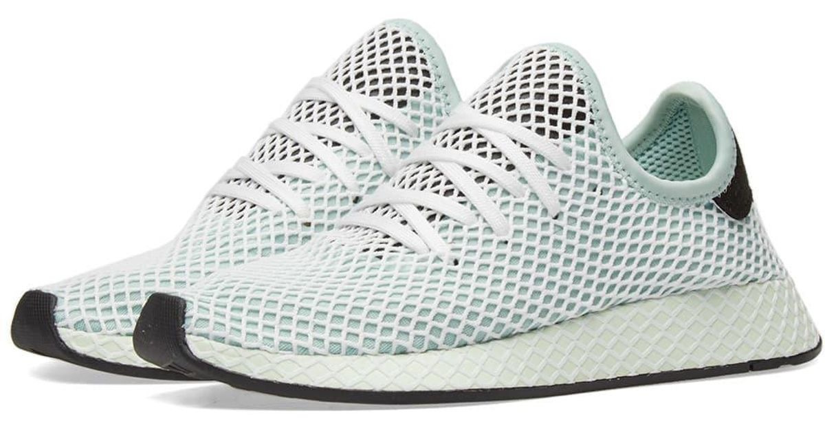 new style bc69e 5526b Adidas Deerupt Runner W in Green - Lyst