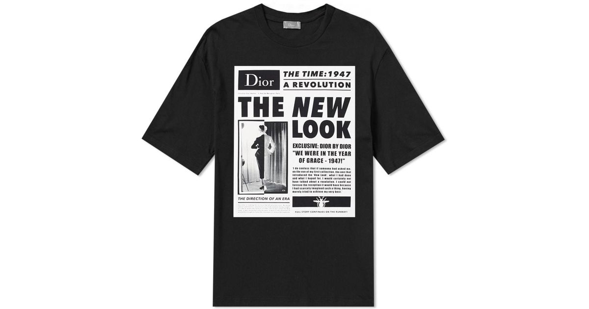 adf7e3aa4f7 Dior Homme New Look Print Tee in Black for Men - Lyst