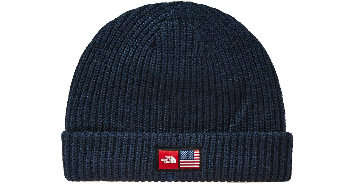 high fashion new arrival super quality The North Face Blue Ic Label Beanie