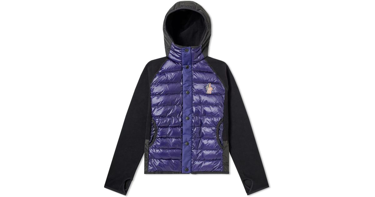 5bef26738 Lyst - Moncler Grenoble Down Fleece Hooded Jacket in Blue for Men
