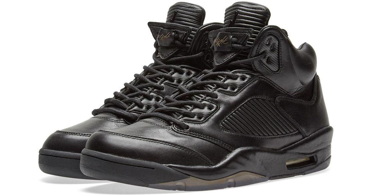 c0ff903443ee Lyst - Nike Nike Air Jordan 5 Premium  flight Jacket  in Black for Men