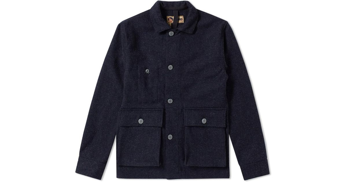 a5d0bffd8f4e Lyst - Nigel Cabourn X Lybro Rail Jacket in Blue for Men