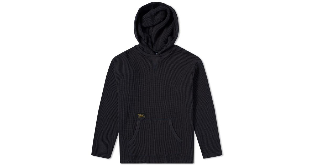 a76ceffa225a Lyst - WTAPS Long Sleeve Hooded Waffle Tee in Black for Men