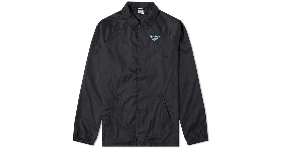 9405400d9d2402 Lyst - Reebok Coach Jacket in Black for Men