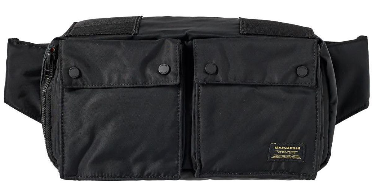 Lyst - Maharishi Nylon Travel Waist Bag in Black for Men 2578866d7ea0