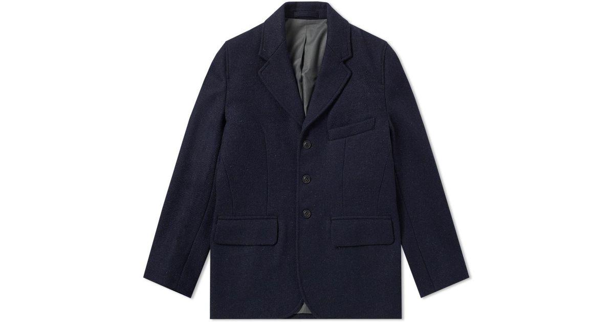 d349feb13de1 Lyst - Nigel Cabourn Authentic Wide Lapel Jacket in Blue for Men