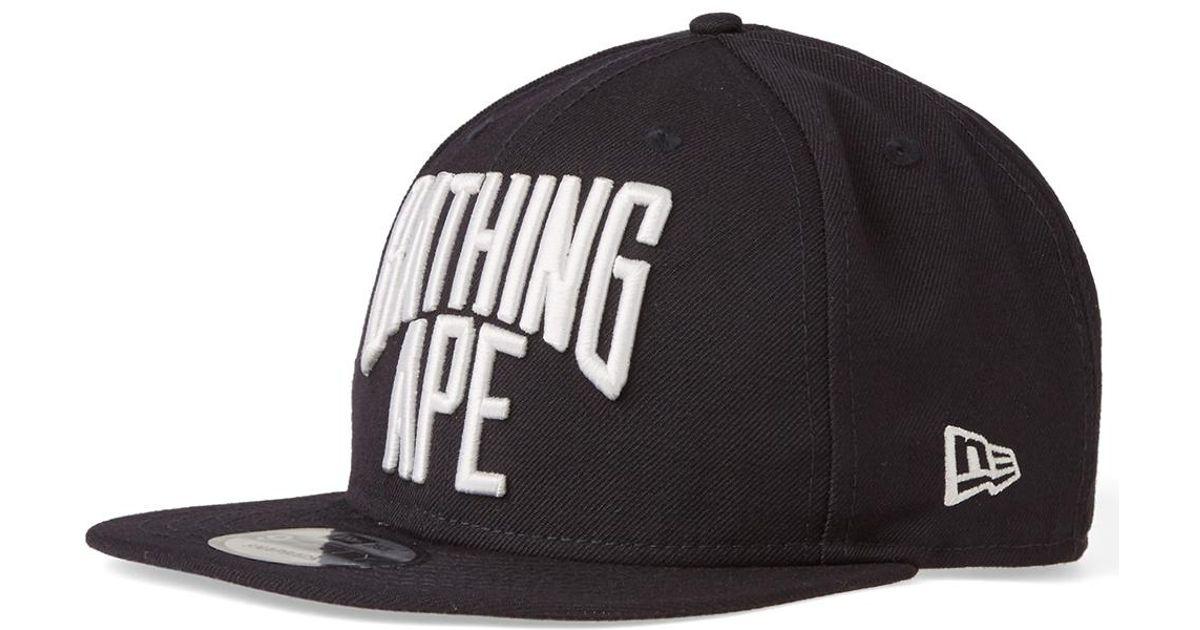 Lyst - A Bathing Ape New Era Nyc Logo Snapback Cap in Blue for Men a6fd1e49cd94