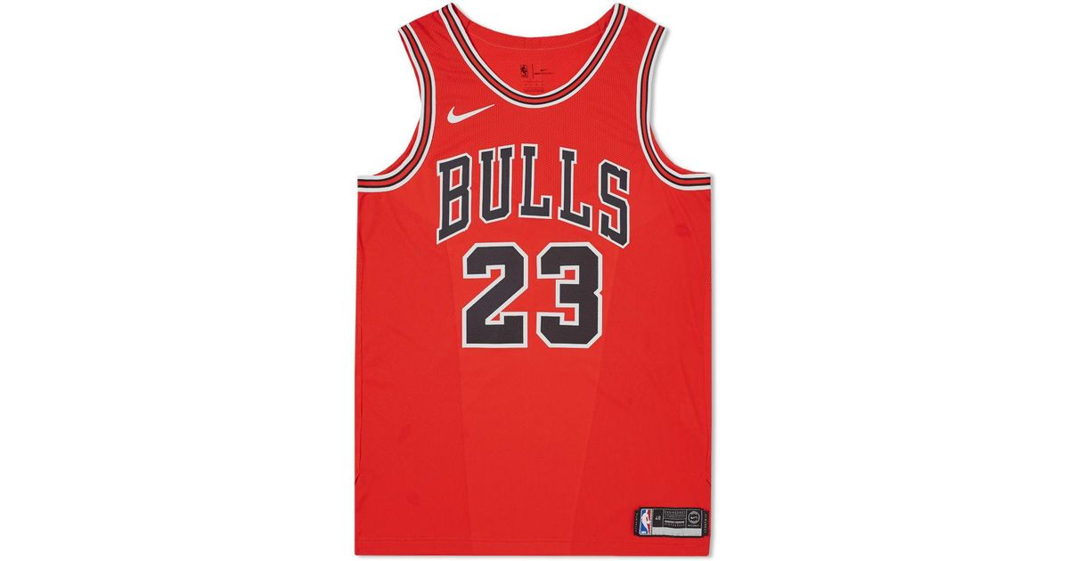 68e3d293107 Nike Michael Jordan Icon Edition Authentic Jersey in Red for Men - Lyst