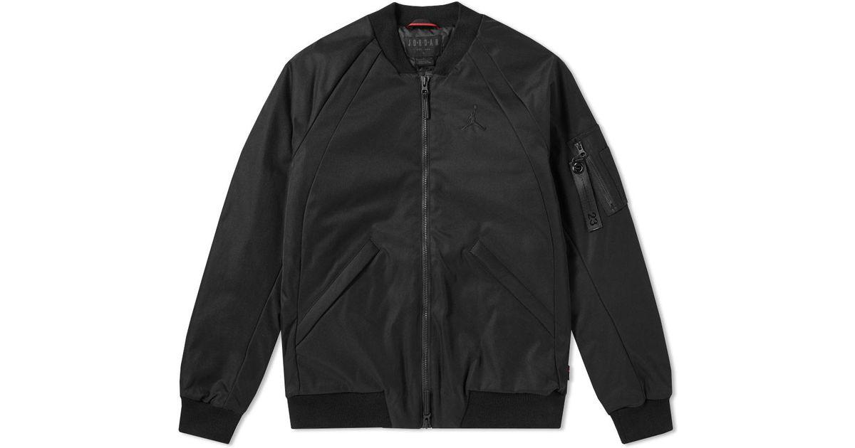 991e6bfa615 Nike Jordan Wings Ma-1 Jacket in Black for Men - Lyst