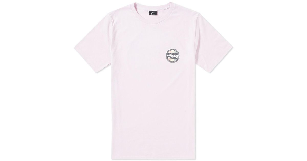 379a7cce Stussy Reggae Surf Dot Tee in Pink for Men - Lyst