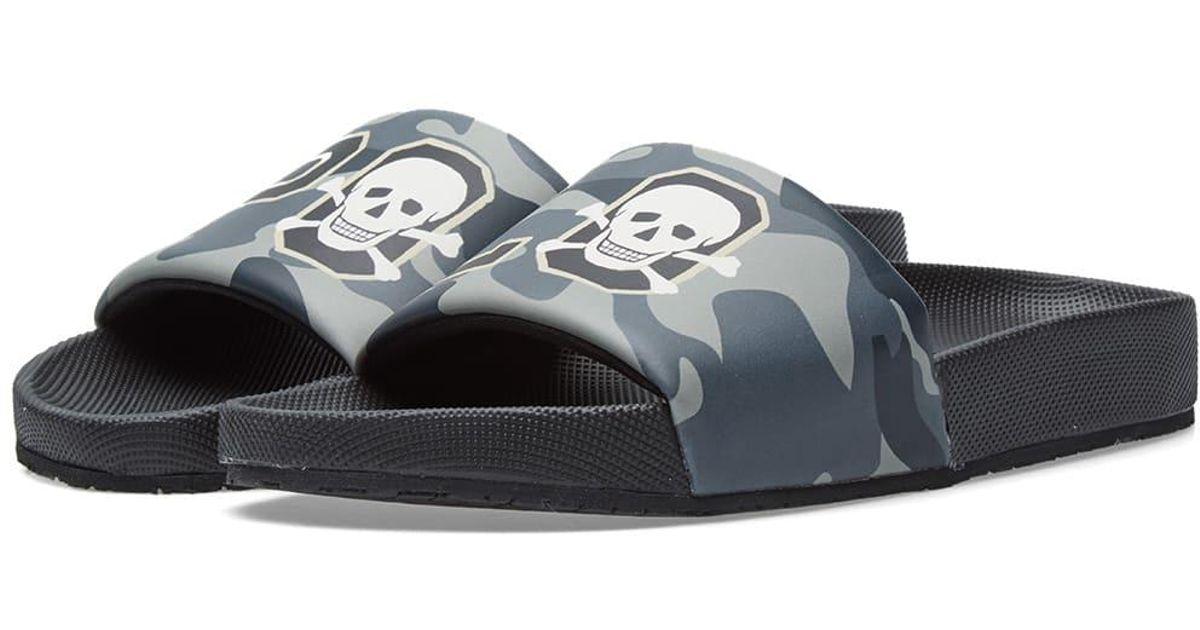 82fc6e8ad1c1 Lyst - Polo Ralph Lauren Cayson Camo Skull Slide in Black for Men