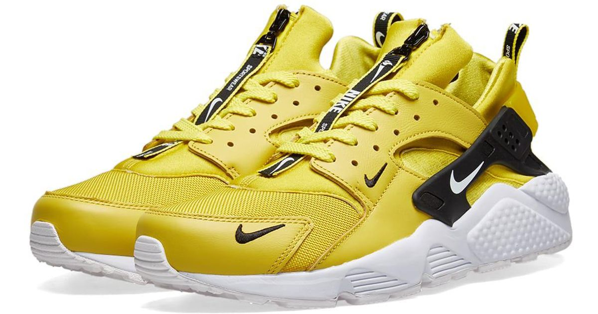 newest collection bf91b 419f8 Lyst , Nike Air Huarache Run Premium Zip Sneaker in Yellow for Men , Save  3.8461538461538396% ...