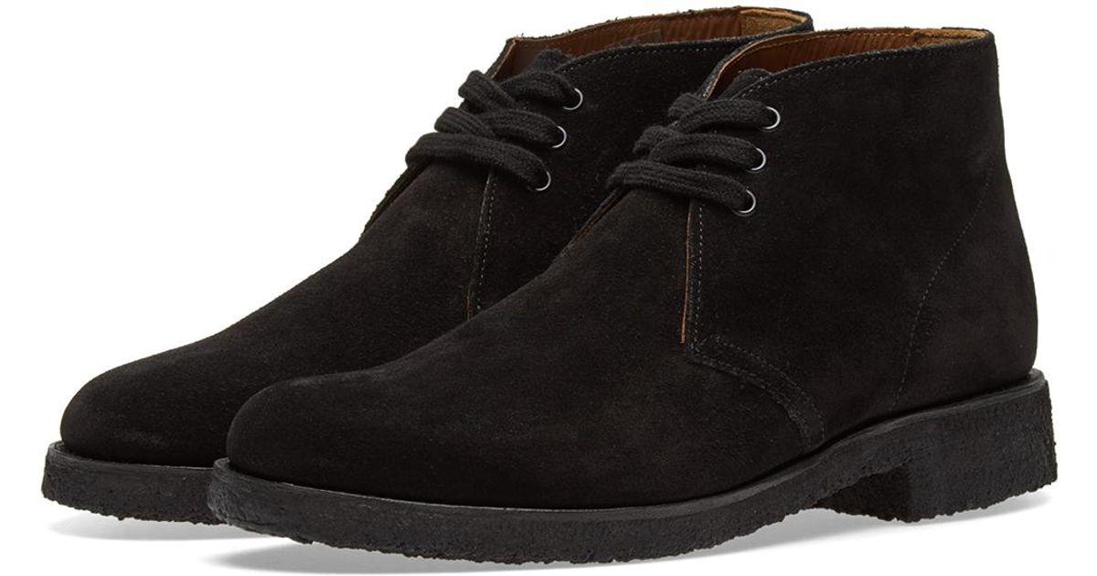 5b18af4df07e5e Lyst - Grenson Oscar Chukka Boot in Black for Men