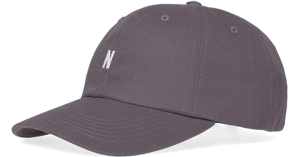 604057ee8ed Lyst - Norse Projects Twill Sports Cap in Gray for Men
