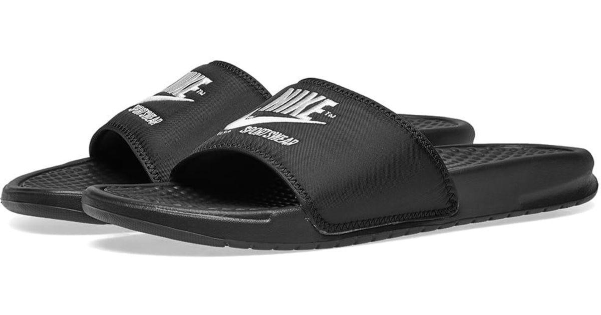 huge discount 8125b eb5c0 Lyst - Nike Benassi Jdi Txt Se in Black for Men