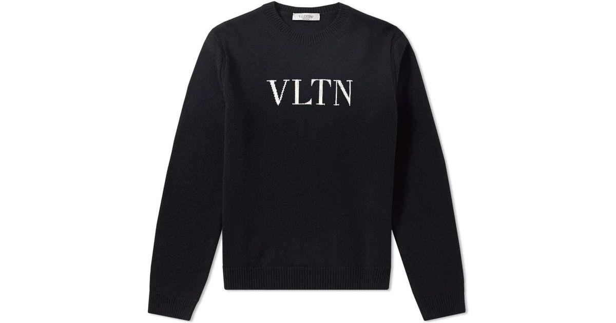 6cfad6a5fc529 Valentino Vltn Jumper in Black for Men - Save 47% - Lyst