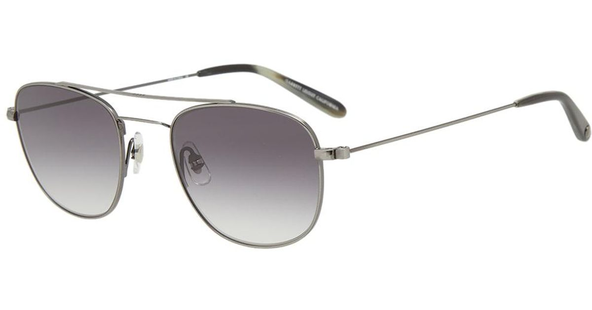 95f376053052 Garrett Leight Clubhouse Sunglasses in Metallic for Men - Lyst