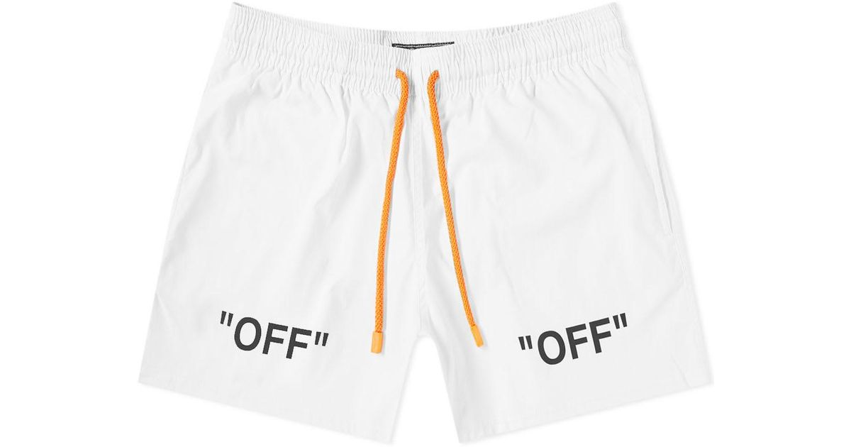 brand new complete in specifications strong packing Off-White c/o Virgil Abloh White X Vilebrequin Arrows Moorise Swim Short  for men