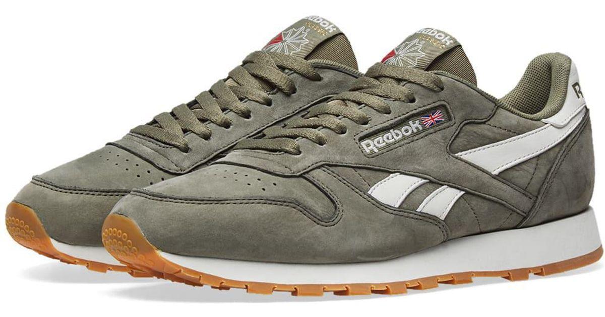 6305e6fcb08840 Reebok - Green Classic Leather Tl for Men - Lyst