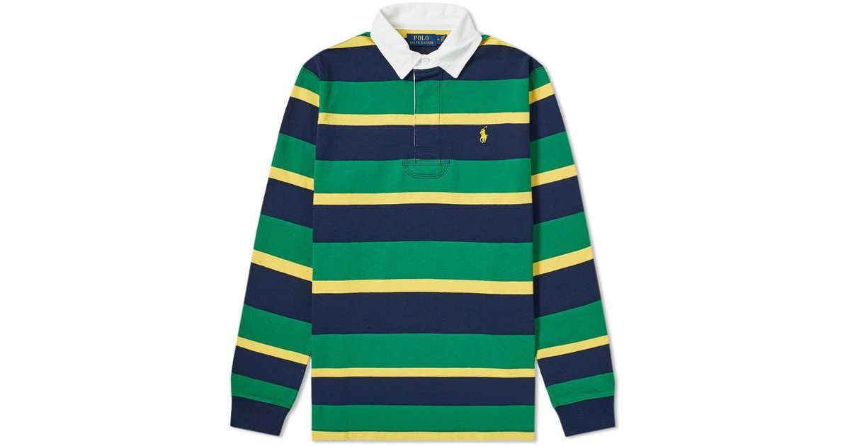 2b9baee2a Lyst - Polo Ralph Lauren The Iconic Rugby Shirt in Green for Men