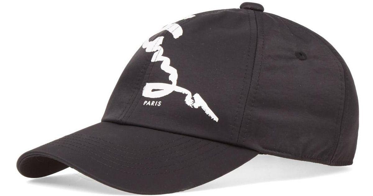 82d1f3ad3de KENZO Signature Cap in Black for Men - Lyst