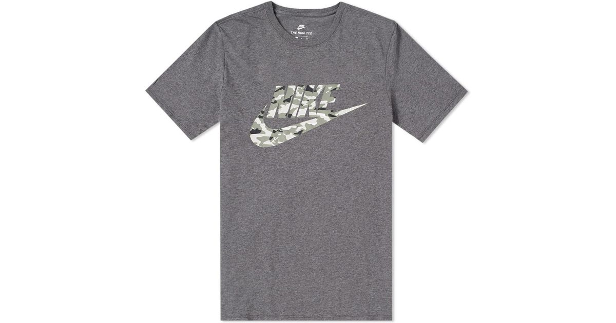 25d42060 Lyst - Nike Camo Pack 2 Tee in Gray for Men