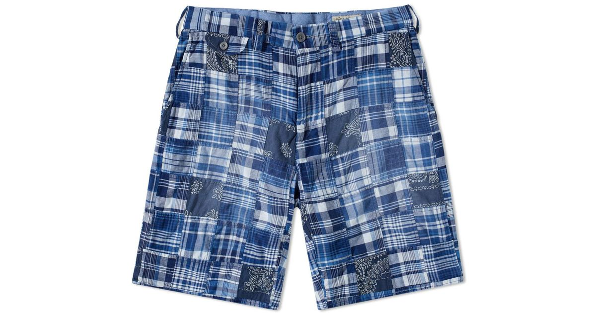 ab08948f ... free shipping lyst polo ralph lauren patchwork short in blue for men  d0d31 996ed
