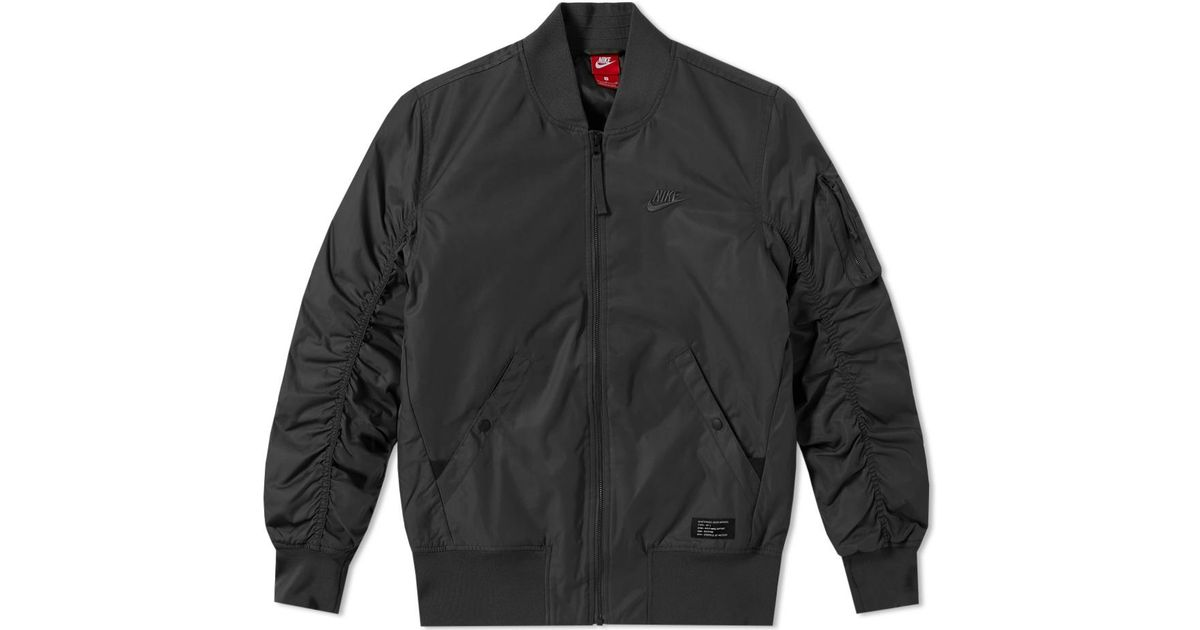 Lyst - Nike Air Force 1 Jacket in Black for Men b8f2806c041