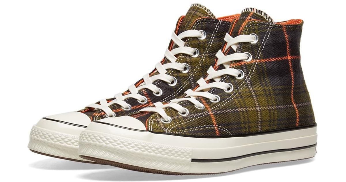 102db1acaf5083 Lyst - Converse Chuck Taylor 1970s Hi Luxury Plaid in Green for Men