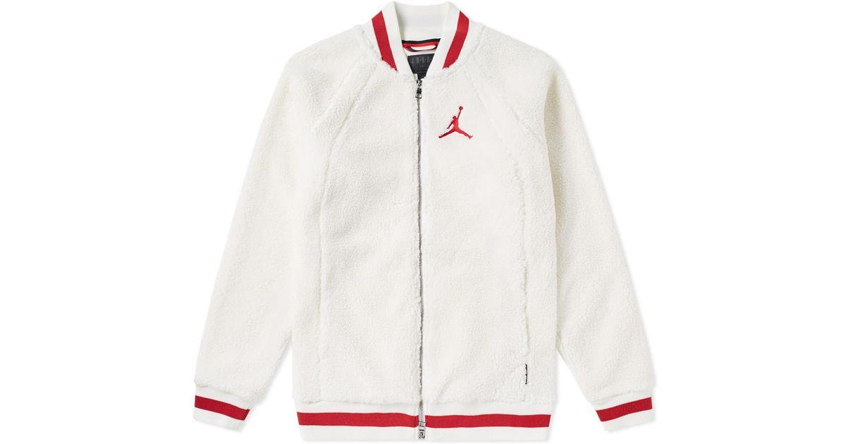 9604e447e6c3 Lyst - Nike Air Jordan Sportswear Aj 1 Fleece Jacket in White for Men