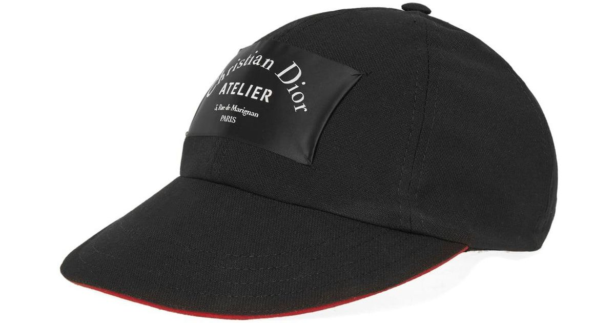 Lyst - Dior Homme Logo Cap in Black for Men e9514044bcb