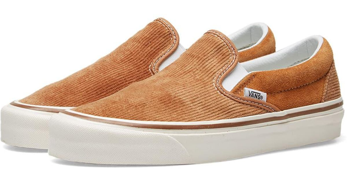 8c4b9d902e Lyst - Vans Corduroy Classic Slip-on 98 Dx in Brown for Men - Save 42%