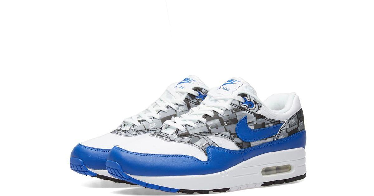 super popular 7d074 84dbc Lyst - Nike Air Max 1 Print in Blue for Men
