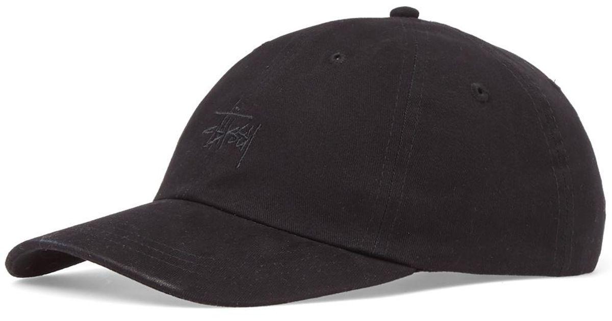 8b29989f Lyst - Stussy Basic Logo Low Pro Cap in Black for Men