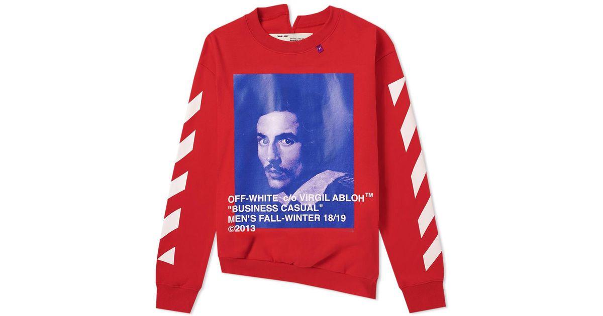 7ee59954 Off-White c/o Virgil Abloh Long Sleeve Bernini Tee in Red for Men - Lyst